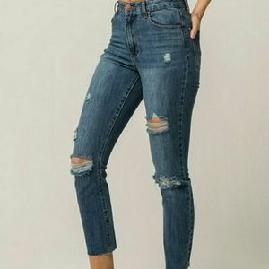 RSQ Jeans - RSQ Distressed Mom Jeans